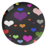 hearts dinner plate