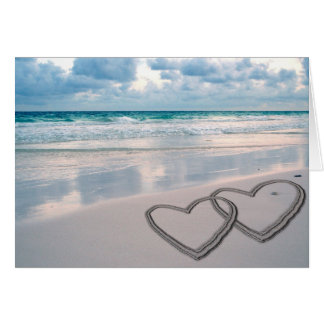 Hearts Drawn in the Sand Card