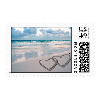Hearts Drawn in the Sand Postage
