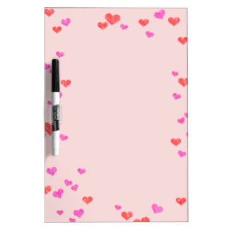 Hearts Dry-Erase Whiteboards