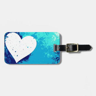 Hearts - Electric Blue Luggage Tag