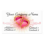Hearts Entwined Business Card Templates