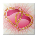 Hearts Entwined Ceramic Tiles