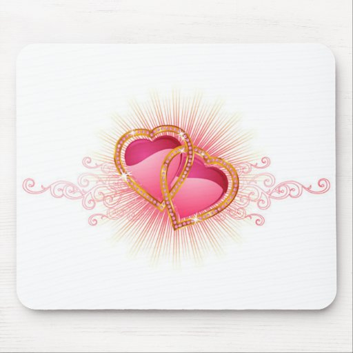 Hearts Entwined Mouse Pad