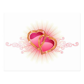 Hearts Entwined Postcard