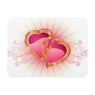 Hearts Entwined Rectangular Photo Magnet