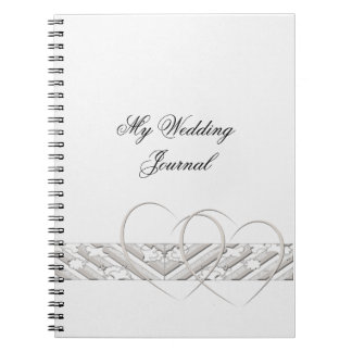 Hearts Entwined with Floral Border in Whit Journal