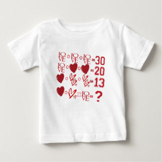 hearts equation valentine's day design baby T-Shirt