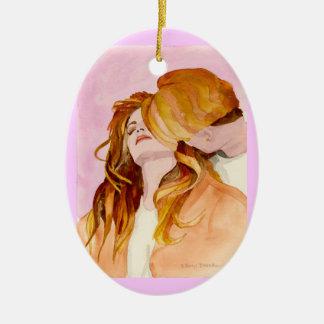 Hearts Expression Ceramic Ornament