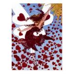 Hearts Fairy Postcard