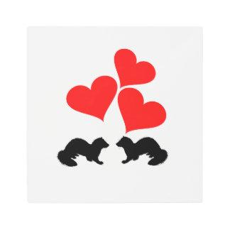 Hearts & Ferrets Metal Print