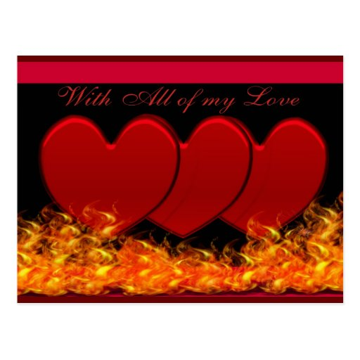 Hearts & Fire Postcards