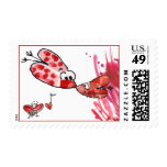 Hearts First Kiss Wedding Postage