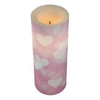 Hearts Flameless Candle