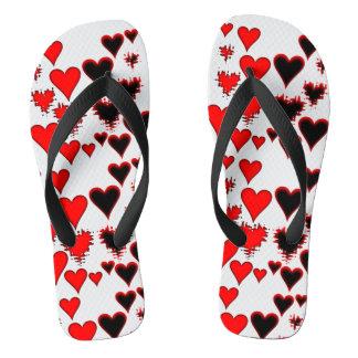 Hearts Flip Flops