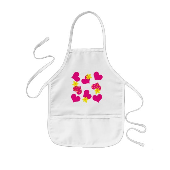 HEARTS & FLOWERS KIDS' APRON