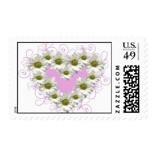Hearts, flowers, love stamps
