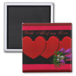 Hearts & Flowers Magnet