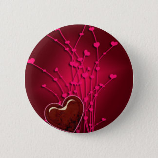 Hearts & Flowers Pinback Button