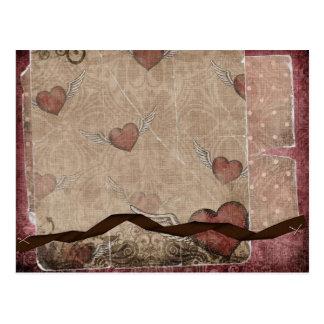 Hearts Flutter Postcard