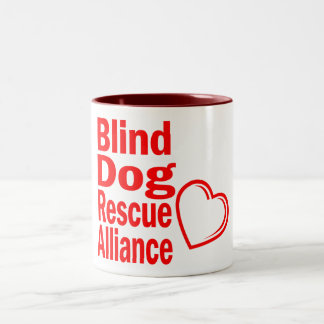 Hearts for Blind Dogs Two-Tone Coffee Mug