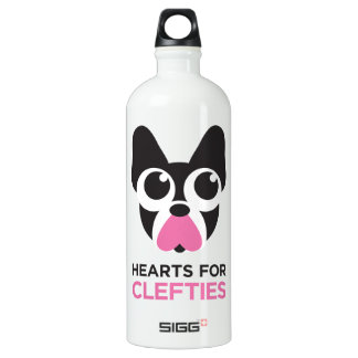 Hearts for Clefties Water Bottle
