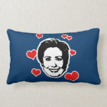HEARTS FOR HILLARY THROW PILLOW