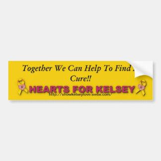 Hearts For Kelsey Bumper Sticker