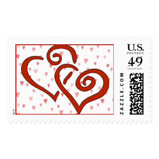 Hearts -  For Love Or Valentines Stamp