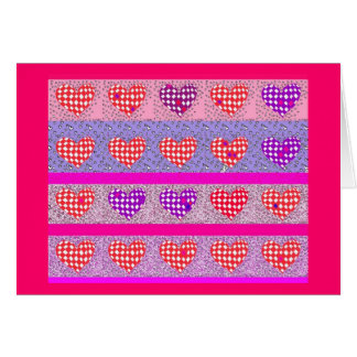 Hearts for Valentine's Day Stationery Note Card