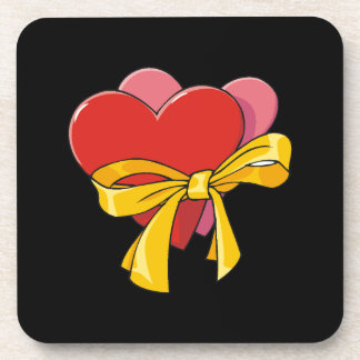 Hearts For Valentines Drink Coaster