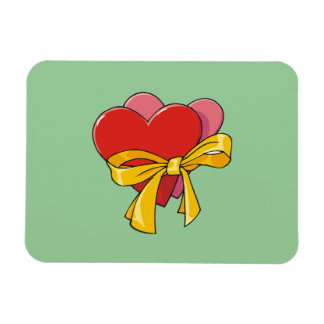 Hearts For Valentines Rectangular Photo Magnet