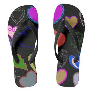 Hearts for you flip flops