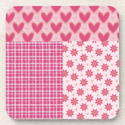 Hearts Forever Beverage Coasters