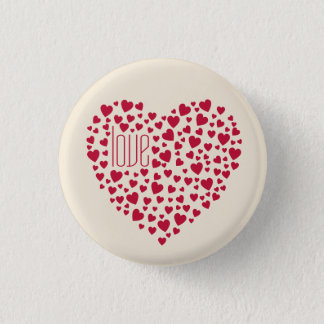 Hearts Full of Hearts Love Red Pinback Button