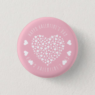 Hearts Full of Hearts Valentine's Day Pinback Button
