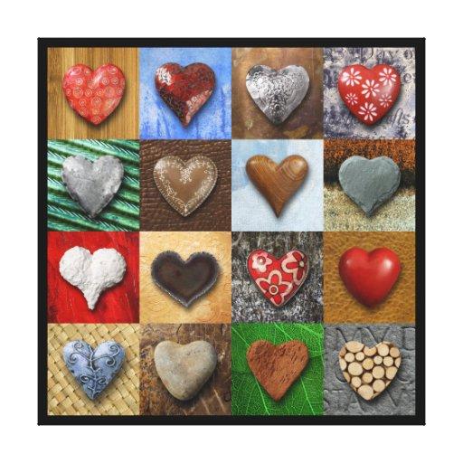 hearts gallery wrap canvas