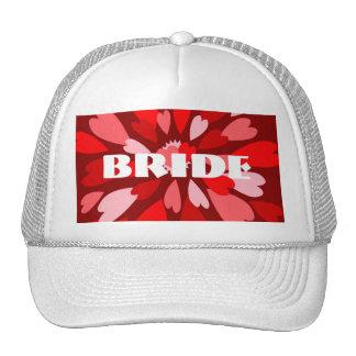 Hearts Galore BRIDE Mesh Hat