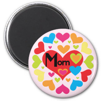 Hearts Galore Mom T-shirts and Gifts 2 Inch Round Magnet