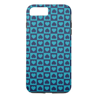 Hearts Galore Navy and Turquoise iPhone 7 Plus Case