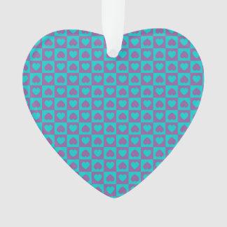 Hearts Galore Purple and Blue Ornament