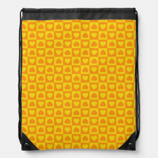 Hearts Galore Yellow and Orange Cinch Bags
