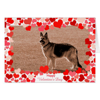 Hearts German Shepherd Valentine's Day Photo Card