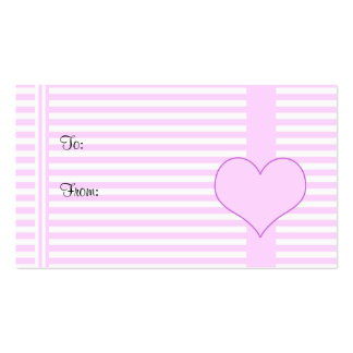 Hearts gift tag business card