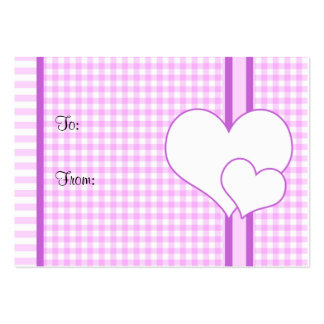 Hearts gift tag large business card