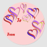 Hearts Gift Tag Sticker