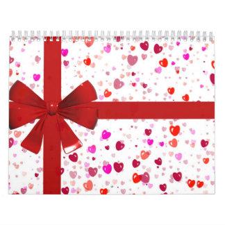 Hearts Gift Wrap Calendar