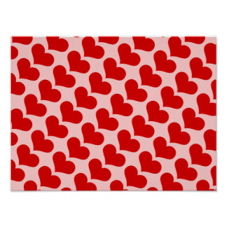 Hearts ~ Gift Wrapping Paper 16x12 COLOR OPT Poster