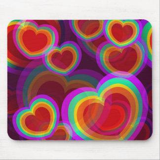 Hearts Glaze Mousepad