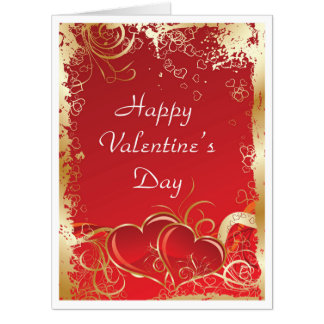hearts gold swirls giant valentine39